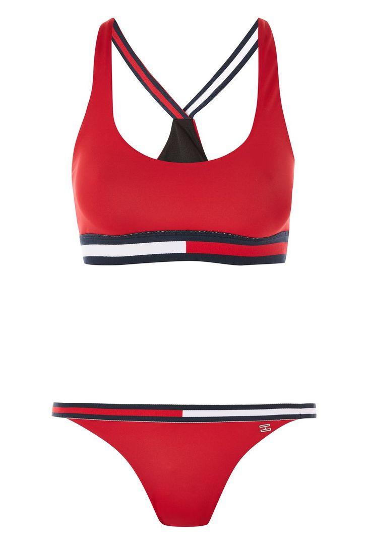 **Cross Strap Bikini Top and Tanga Bottoms Set by Tommy Hilfiger - Topshop USA