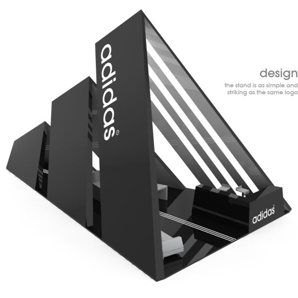 adidas stand by Scarpia , via Behance *Studio Displays, Inc. does not own this design.*                                                                                                                                                                                 Más
