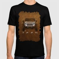 Jeep Abstract MEDIUM Mens Fitted Tee Black