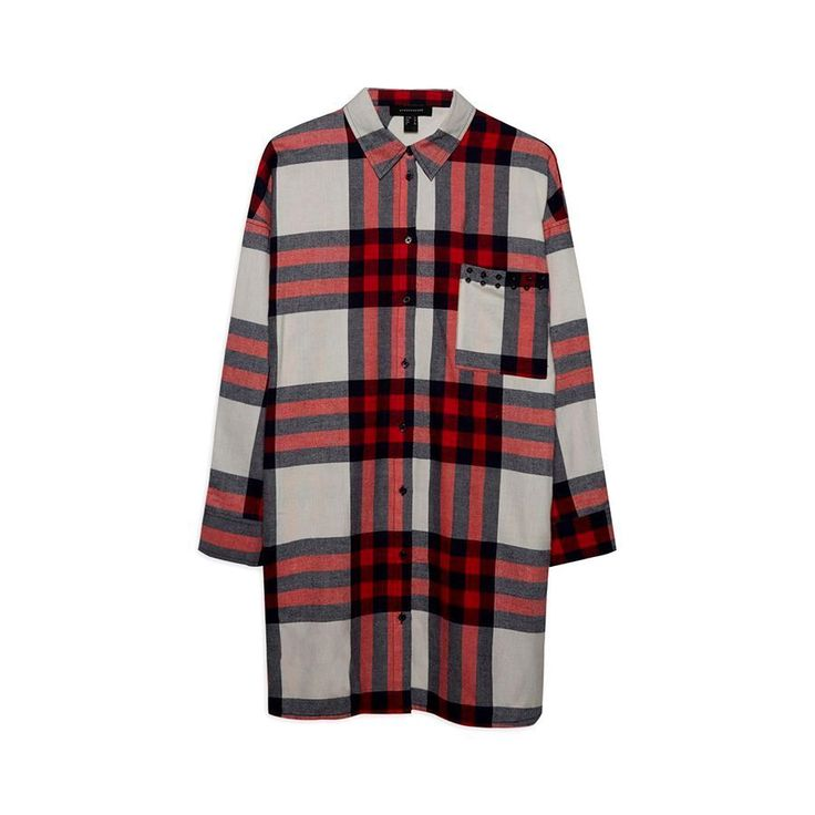 Glamour Primark Brushed Cotton Red Checkered Long Oversized Shirt Top Dress 18 #Primark #Shirt #Oversized #Check #plaid #dress
