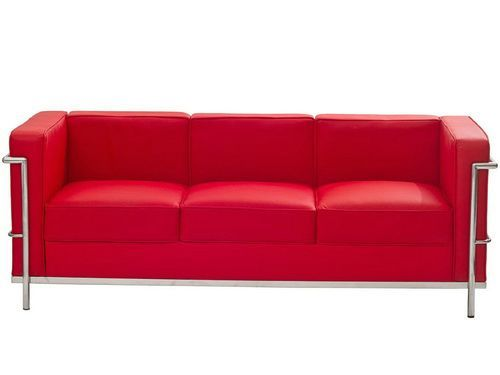 Contemporary Red Leather Sofa 2017