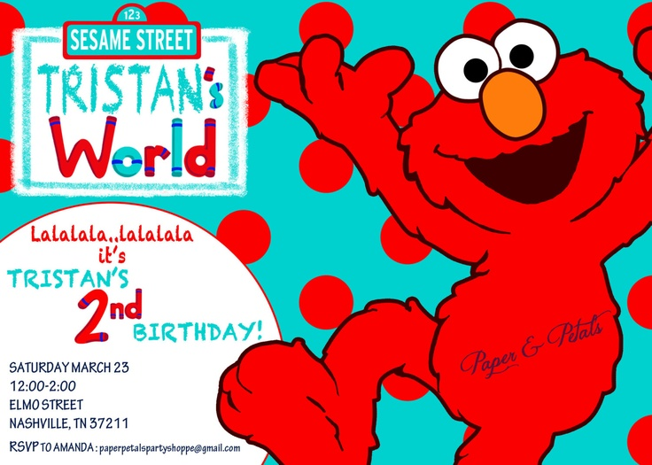 72 best Connor 1st birthday party Elmo images – Homemade Elmo Birthday Invitations