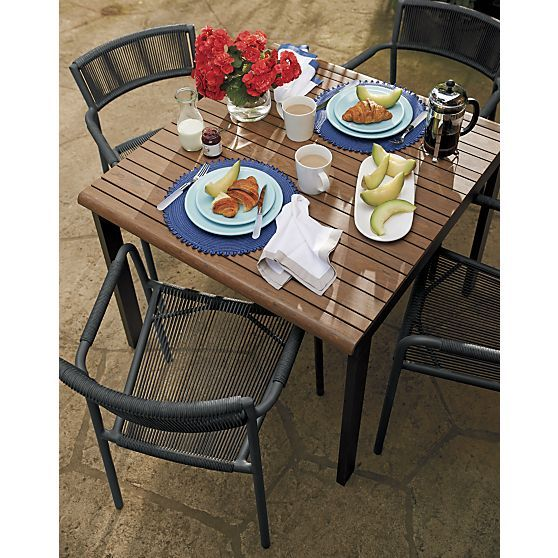 crate barrel outdoor furniture. rocha caf table crate barrel outdoor furniture
