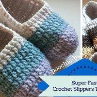 Super Fast Crochet Slipper Tutorials                                                                                                                                                                                 More