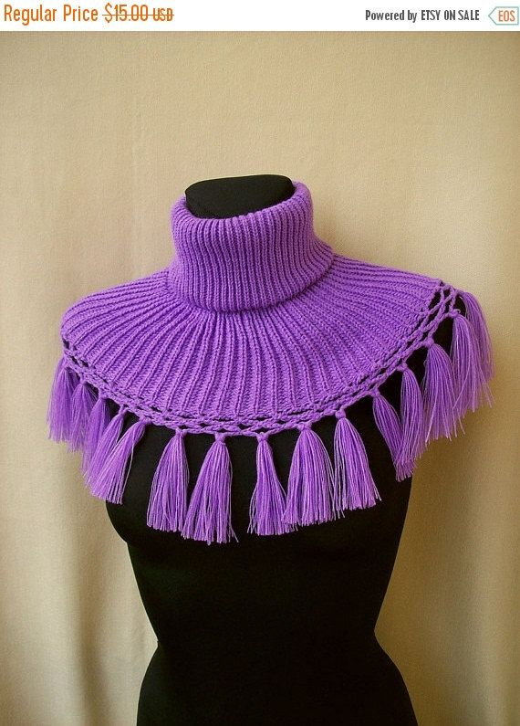 MOTHERS DAY SALE Purple Neckwarmer / Poncho / Cowl by DosiakStyle