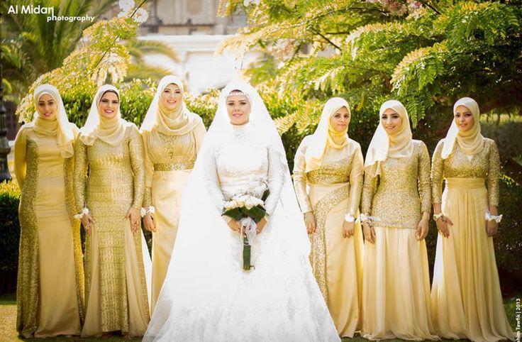 Egyptian weddings. bridesmaid ideas