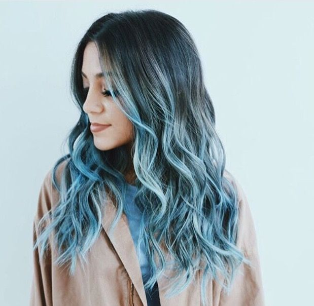 blue hair styles best 20 blue ombre hair ideas on 1525 | dbabd500cbf1525fb6f656ae2020ac92 pastel hair dyed hair