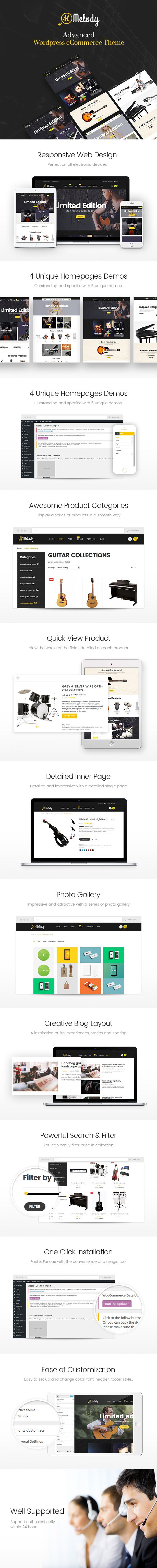 Download Melody  WordPress Theme for Musical Instruments & Music BandClub (WooCommerce)  Theme Overview  Melody  WordPress Theme for Musical Instruments & Music Band/Club is a clean and elegant design that is really ideal for you to set up any music websites for musical instruments artists music bands musicians or anyone working in the music industry. The template has a modern design and is very flexible allowing you to customize it according to your music style and to your needs..  This…