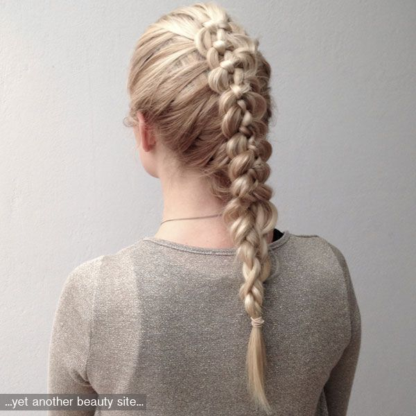 Tutorial for this messed up five strand braid on Yet another beauty site! #braids #fivestrandbraid #5strandbraid