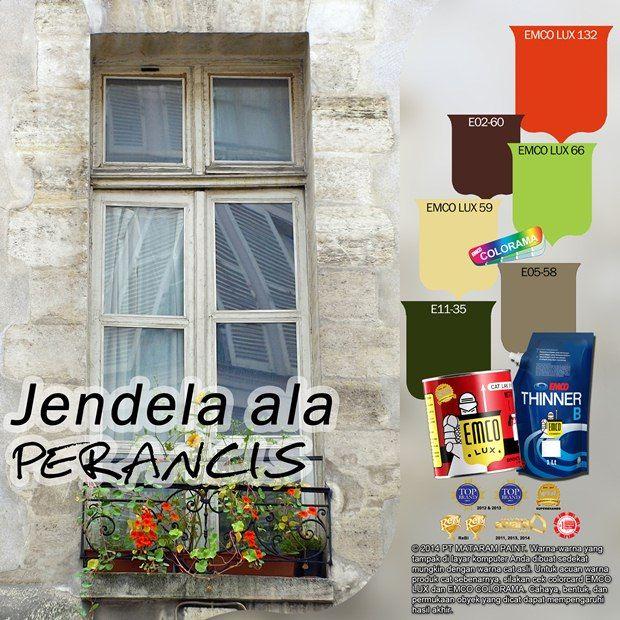 Inspirasi Jendela Khas Perancis #Trend #Lifestyle #EMCOPaint http://matarampaint.com/detailNews.php?n=362