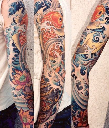 Koi Fish Water #Tattoo #TattooIdeas