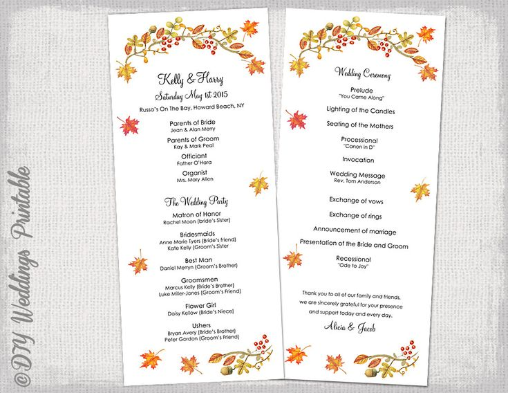 Order of service wedding template civil ceremony google for Wedding processional order template