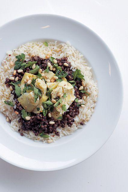 Lentils, Artichokes and Rice by Salad Pride, via Flickr