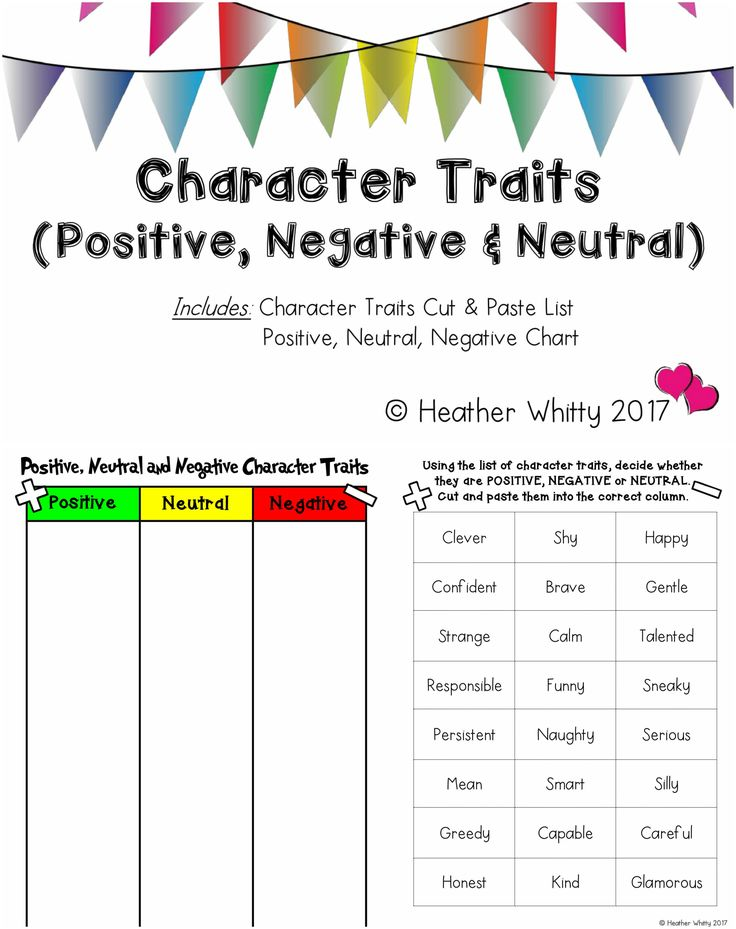 21 best Reading- Character Traits images on Pinterest Activities - positive character traits