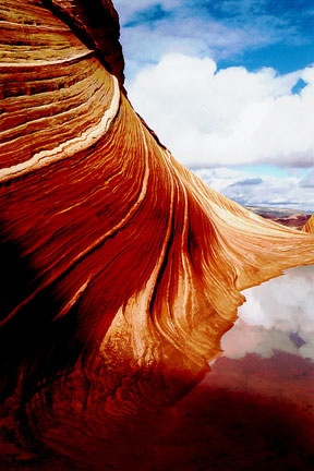 Coyote Buttes, AZ  after rain on my trekking