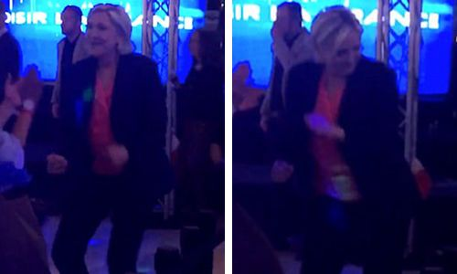 Hillary Clinton loses: Moans about it all night, refuses to make an appearance.Le Pen looses: Goes out dancing. Hillary Clinton could learn a few things.
