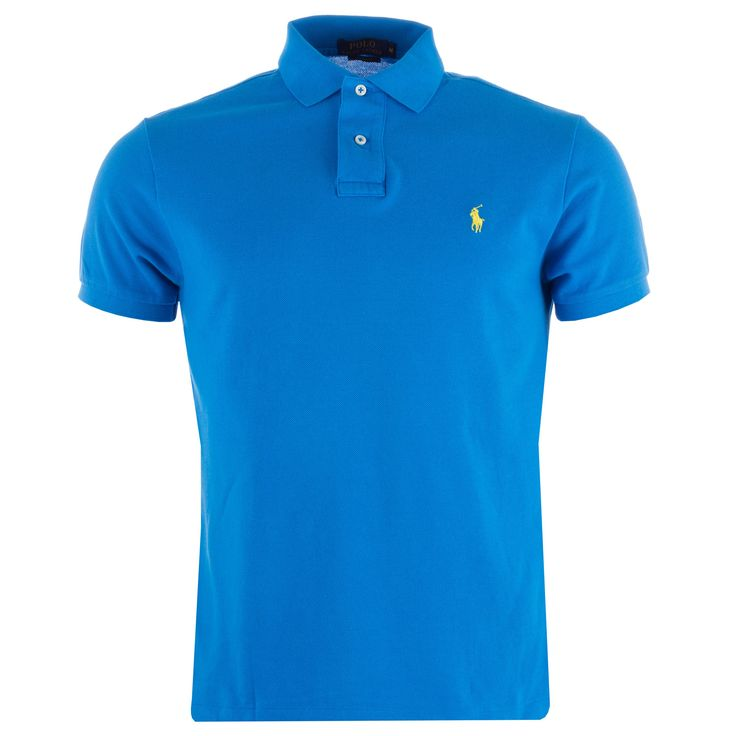 Polo Shirts | Blue yellow Mens Custom Fit Polo Shirt | Get The label