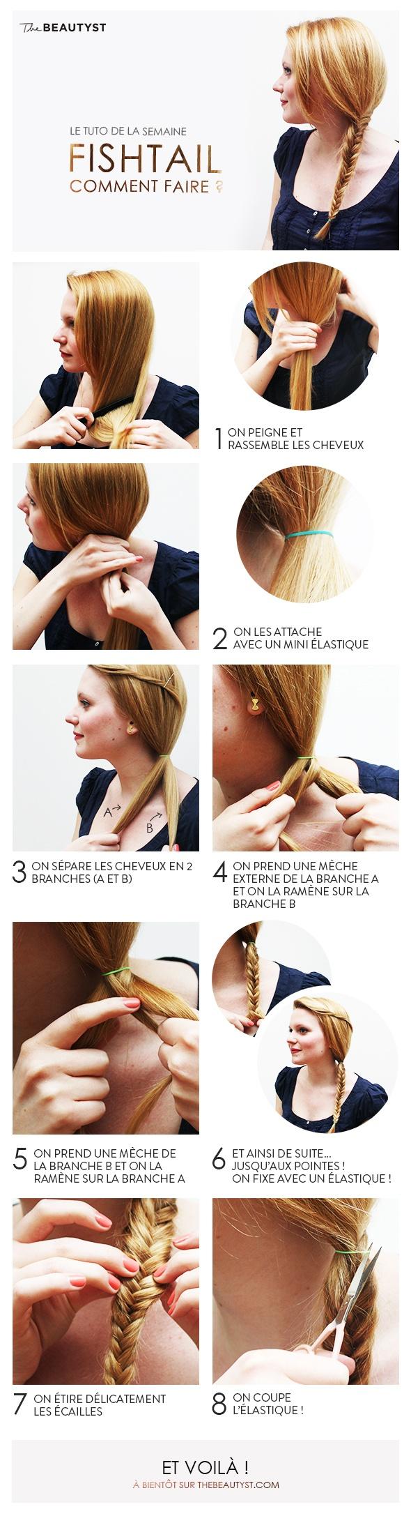Découvrez comment réaliser une jolie tresse fishtail, une coiffure simple et ultra romantique!