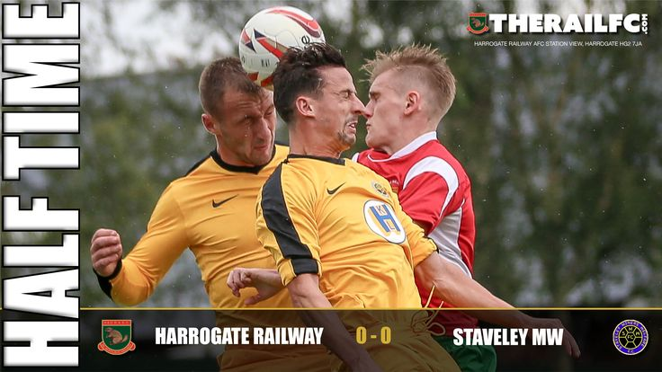 HT: Harrogate Railway 0-0 Staveley Miners Welfare    @therailfc @StaveleyMWFC @EdWhite2507