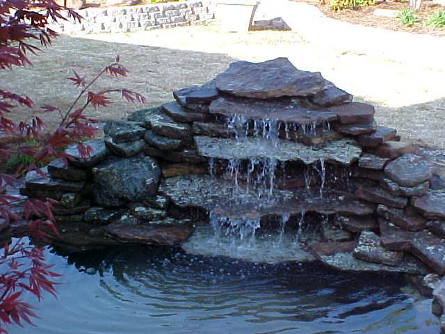 Flagstone Waterfall Pool Waterfall Pond Waterfall