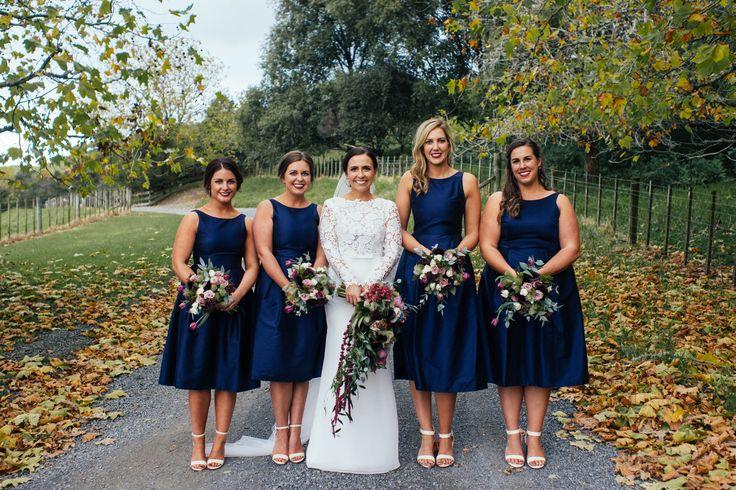 Celine Rita Bridesmaids. Navy Bridesmaids. Boomrock Wedding.