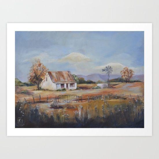 #painting #acrylicpainting #landscape #countryside #originalpainting #farm #decor #wallart