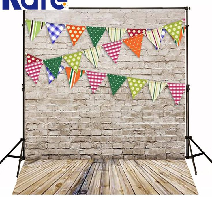 Bunting Vintage Wooden Brick Wall Backgrounds Photography Backdrops