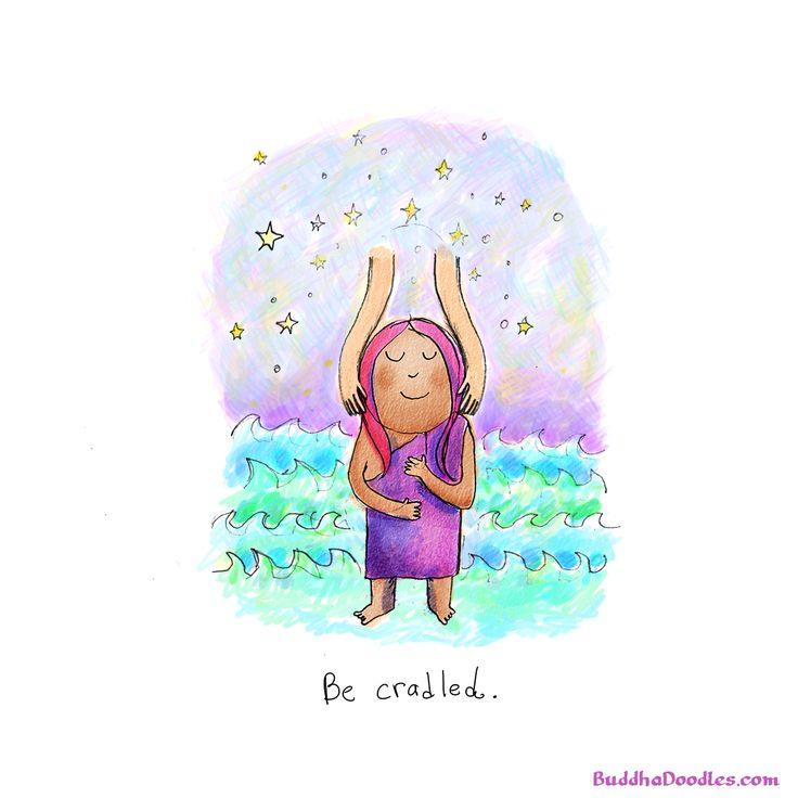 Buddha Doodles - Be cradled.