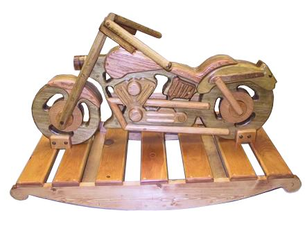 Wooden motorcycle rocking horse plans woodworking for Woodworking plan for motorcycle rocker toy