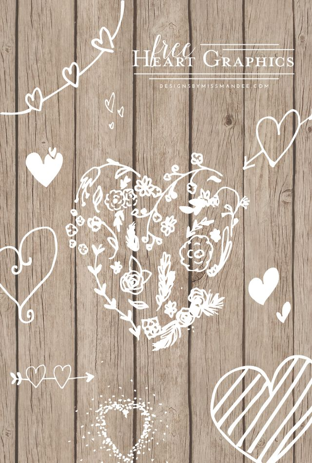 Free Heart Graphics - Designs By Miss Mandee. Super cute heart graphics for all you Valentines Day lovers. Perfect for cards, wall art, photo overlays, and love notes to your sweetheart!