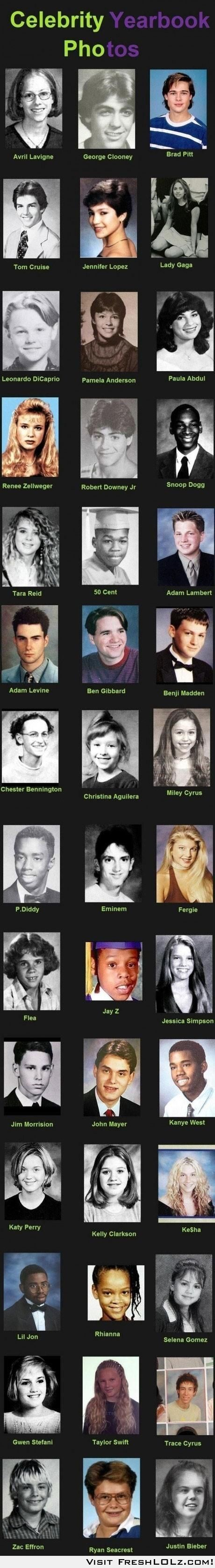 celebrity yearbook photos; Adam Levine is always the best! In everything... Even old year book photos! ;)