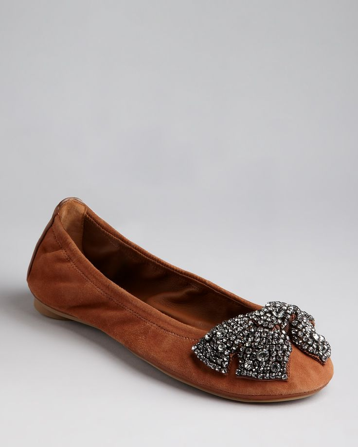 Tory Burch Ballet Bow Flats - Eddie | Bloomingdale's- love! sparkles and my  favorite