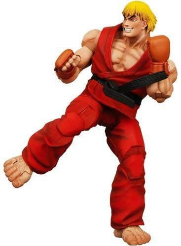 "NECA Player Select Street Fighter IV Survival Model Ken Red Action Figure Toy 7"" 18CM"