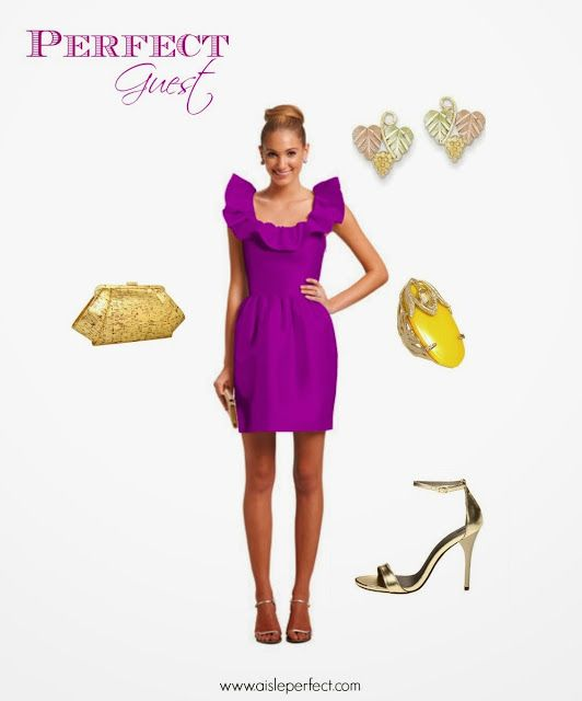 Perfect Guest: Purple and Gold Wedding