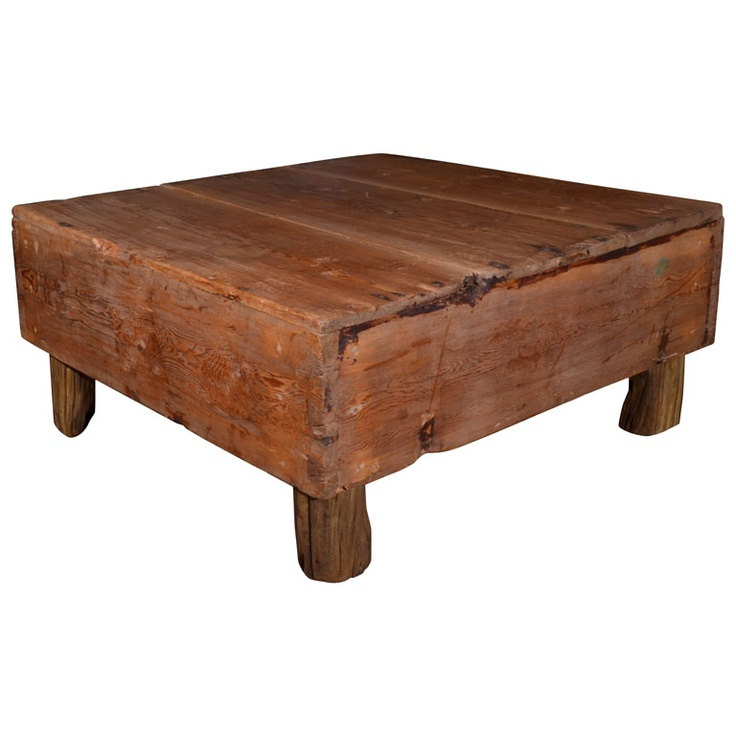 Swedish Wooden Box Re Purposed As Coffee Table / Box Was Made In 1838