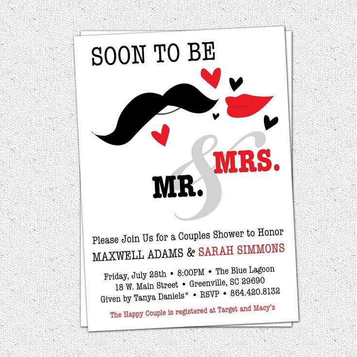 Couples Wedding Shower Invitations Templates Free Invitations
