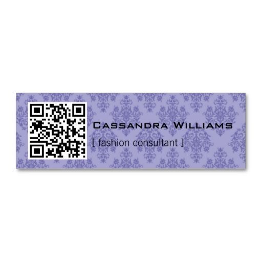 100 best 100 mini business cards for inspiration images by shop damask purple qr code mini business cards created by sublimestationery accmission Gallery