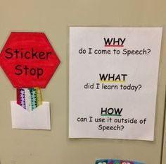 "Speech Activity of the Week: Sticker Stop – an ""Exit Slip"" Strategy - pinned by @PediaStaff – Please Visit  ht.ly/63sNt for all our pediatric therapy pins"