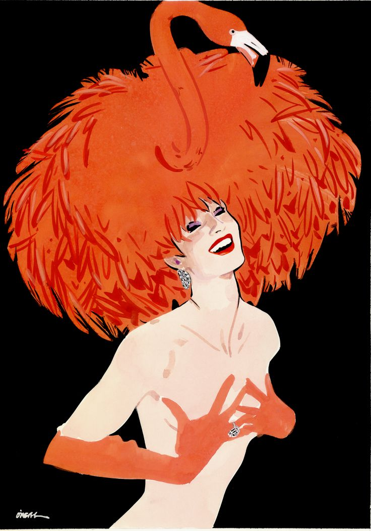 Flamingo Showgirl Headdress