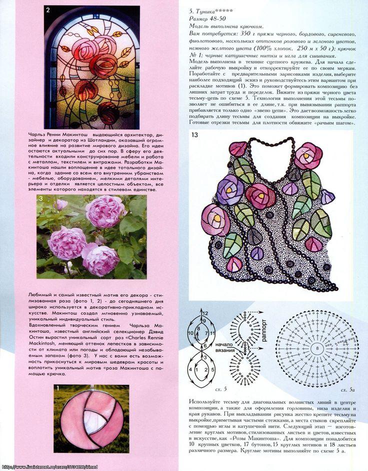 роза макинтош фото описание вязание платье