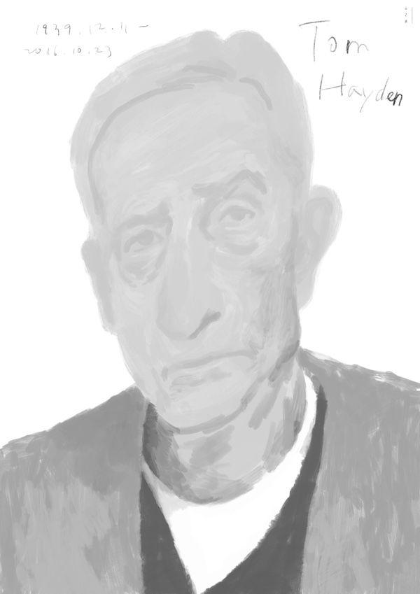 Tom Hayden  1939.12.11-2016.10.23