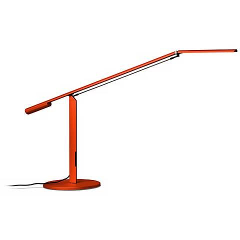 GUEST ROOM BEDSIDE Koncept Gen 3 Equo Daylight LED Orange Desk Lamp
