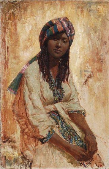 Konstantin Egorovich Makovsky - Portrait of an Arabian Girl