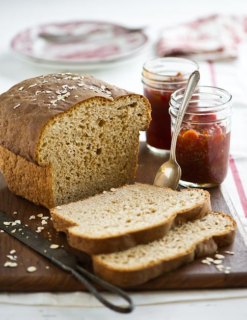 homemade whole wheat bread with oatmeal recipe