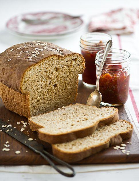 homemade whole wheat bread with oatmeal recipe