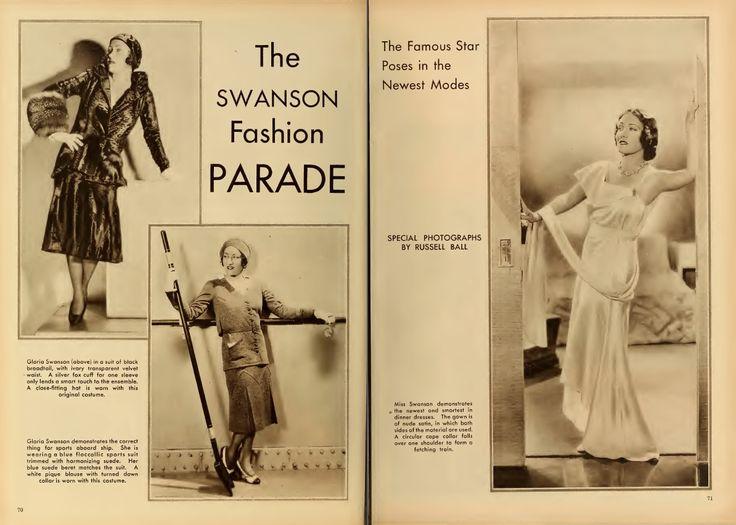 Gloria Swanson Fashion Revue pg. 1