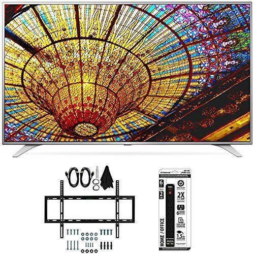 49' Class (48.5' Diagonal) 4K UHD Smart LED TV w/ webOS 3.0 Bundle Includes LG 49UH6500 49-Inch 4K UHD Smart TV Slim Flat Wall Mount Kit Ultimate Bundle for32-60 inch TVs 6 Outlet Power Strip wi...