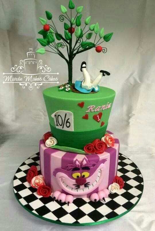 Alice in Wonderland Cake www.tablescapesbydesign.com https://www.facebook.com/pages/Tablescapes-By-Design/129811416695