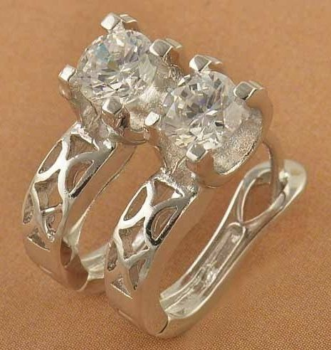 9k white gold filled hoop earrings, CZ bling, cut out pattern, 15mm x 5mm @ AUD$12.00 (1)