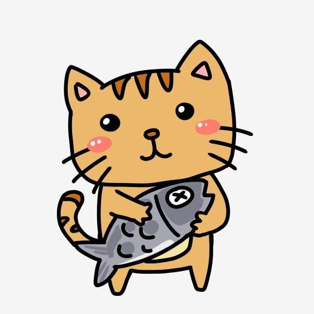 วาดร ปการ ต นน าร กล กแมวก นปลา ภาพประกอบ น าร ก การ ต นภาพ Png และ Psd สำหร บดาวน โหลดฟร ล กแมว ภาพวาดร ปส ตว ส ตว